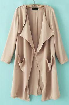 Shop Beige Long Sleeve Pockets Loose Trench Coat online. Sheinside offers Beige Long Sleeve Pockets Loose Trench Coat & more to fit your fashionable needs. Free Shipping Worldwide!