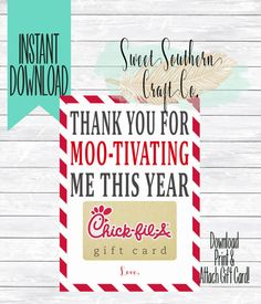 INSTANT DOWNLOADThank You For MOO-Tivating by SweetSouthernCraftCo