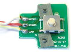 Remote shutter release circuit board.