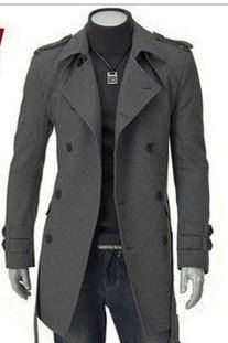 2011 England men's doublebreasted trench coat fall and by goodme - StyleSays