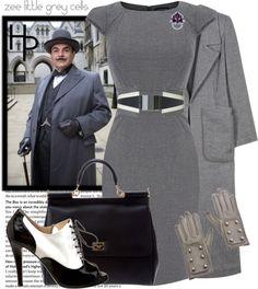 """Hercule Poirot"" by fashionmefabulous ❤ liked on Polyvore"