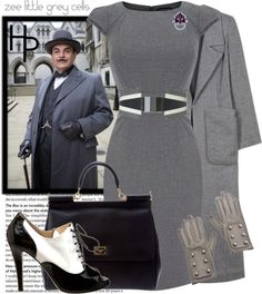 """Hercule Poirot"" by fashionmefabulous ❤ liked on Polyvore"