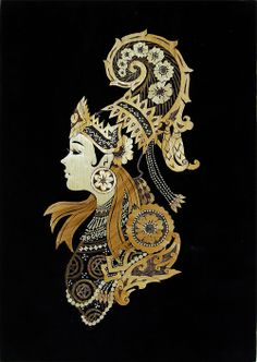 Myanmar,Art painting,straw painting,collage,Humanities,ethnic design,traditional lady,portrait  USD43 Painting Collage, Stencil Painting, Acrylic Paintings, Traditional Paintings, Traditional Art, Traditional Clothes, Straw Art, Myanmar Women, Indonesian Art