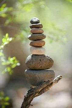 Stacking rocks is good luck. #HOFluckycharms