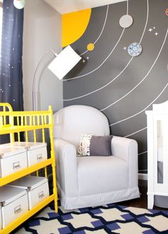 ADORABLE baby boy room, and such cute details!