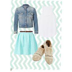Cute school outfit or a fall walk outfit.