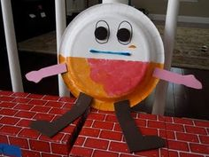 Humpty Dumpty paper plate craft