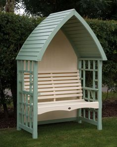 seat http://www.garden-mall.co.uk/arbours/afk-cottage-arbour-in-sage-and-cream/p41654.html