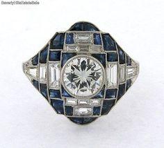Magnificent-Antique-Art-Deco-1C-Diamond-Sapphires-Platinum-Ring