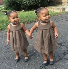 Gorgeous identical twin baby girls #twins #multiples