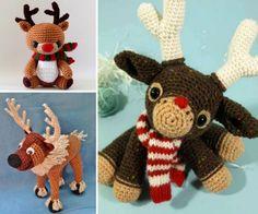 Amigurumi Reindeer Free Pattern : Rudolph the red nosed reindeer free crochet pattern santa