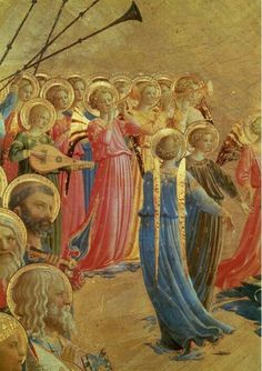 Znalezione obrazy dla zapytania Detail from The Last Judgement, Fra Angelico Italian Renaissance Art, Renaissance Kunst, Renaissance Paintings, Fra Angelico, Catholic Art, Religious Art, Oil Pastel Colours, Oil Pastels, La Madone