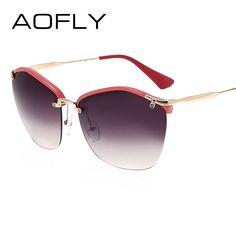 5f642f5314ce Fashion Sunglasses Female Brand Sun glasses Women Designer Cat Eye Glasses  Shades Oversized Glasses Crafts Temple UV400