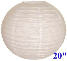 """White Chinese/Japanese Paper Lantern/Lamp 20"""" Diameter - Just Artifacts Brand by Just Artifacts. $5.96. Great for party and home decoration. Check Just Artifacts products for more available colors/sizes."""
