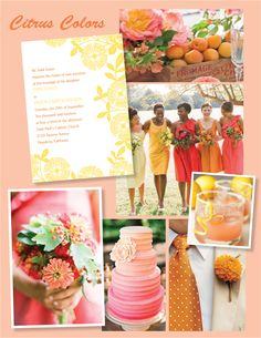 2014 Wedding Trends: Citrus Colors - for more amazing wedding ideas, tools and tips visit us at Bride's Book