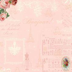 **FREE ViNTaGE DiGiTaL STaMPS**: Free Digital Scrapbook Paper - Bonjour Paris