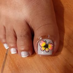 Pedicure Nail Art, Toe Nail Art, Toe Nails, Butterfly Nail Art, Diana, Nail Designs, Make Up, Beautiful, Ideas