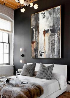 Urban Style Abstract Art Painting Contemporary Art is part of Art painting Decor - An original painting by artist Sky Whitman, Abstract Art Painting Contemporary Wall Art This painting is original and hand painted Frames On Wall, Framed Wall Art, Contemporary Art Artists, Modern Art Paintings, Modern Artwork, Modern Contemporary Art, Contemporary Furniture, Large Painting, Painting Abstract
