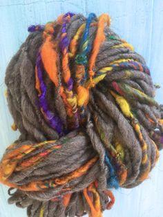 Bulky Yarn Textured Handspun  Art yarn crochet by TerraBellaSpun