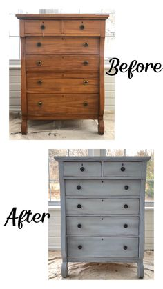Dresser restored with Louis Blue Chalk Paint® Louis Blue Chalk Paint® with Black Wax accents. Handles redone with Dark Silver Gilding Wax. Diy Furniture Renovation, Diy Furniture Projects, Refurbished Furniture, Repurposed Furniture, Furniture Design, Restoring Old Furniture, Diy Furniture Refinishing, Diy Furniture Repurpose, Diy Old Furniture Makeover