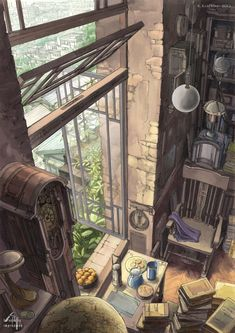 Background illustration s Art Graphique, Environment Design, Anime Scenery, Fantasy Landscape, Aesthetic Art, Amazing Art, Cool Art, Concept Art, Anime Art