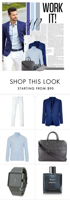 """""""Suited Up!"""" by colierollers ❤ liked on Polyvore featuring BOSS Hugo Boss, Mathieu Jerome, Louis Vuitton, Nixon, Chanel, Oxford & Finch, men's fashion and menswear"""