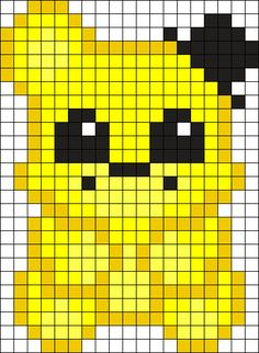 Psychic Friend Fred Bear Perler Bead Pattern / Bead Sprite