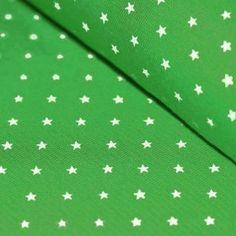 Bündchenstoff Mit Sternen Grasgrün