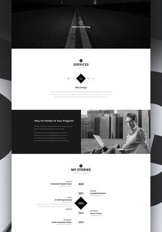 Personex - Creative Person's Web Resume / Portfolio on Behance