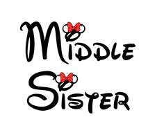 Disney Middle Sister Iron on Transfer Decal(iron on transfer, not digital download). $5.00, via Etsy.