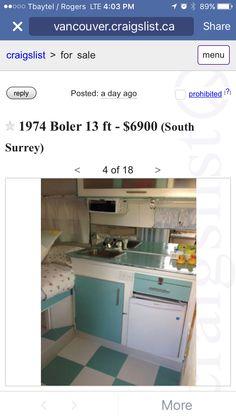 Cupboards and fridge