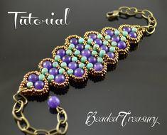 Bead pattern, rulla pattern, seed bead pattern, beading pattern, beaded bracelet…