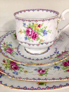 The Wishful Tinker: Cross stitch china