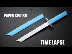 Origami Sword, Origami Weapons, Instruções Origami, Paper Crafts Origami, Origami Knife, Sword Craft For Kids, Paper Sword, Arte Ninja, How To Make Origami