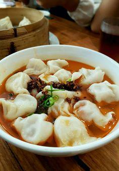 """""""Pork Dumplings in Chili Oil Soup"""", Shanghai Street, Melbourne"""