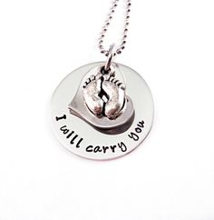 Personalized Infant Memorial Necklace  Hand by Stampressions, $29.00 With Poppyseed Written for my little poppyseed