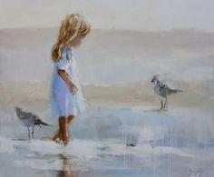 Walking with Gulls - Susie Pryor