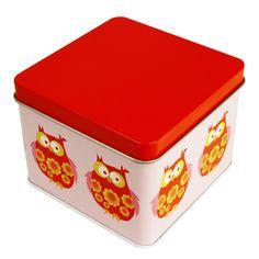 Blafre, Liten box, Uggla, Röd - CDON.COM