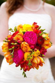 Brautstrauß bunt