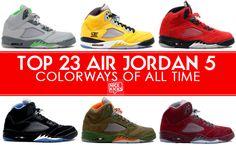 Top 23 Air Jordan 5 Colorways of All Time
