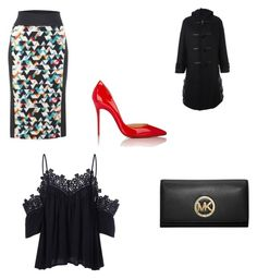 """""The Moon Is Out"" by danabeauty101 ❤ liked on Polyvore featuring No Fixed Abode, MICHAEL Michael Kors, Noir Kei Ninomiya and Christian Louboutin"