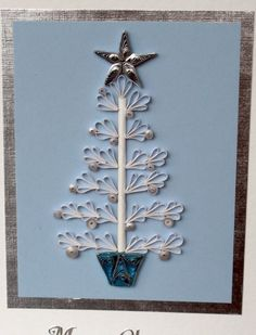 Quilled Christmas card paper quilling tree by PaperDaisyCards