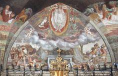 Giovan Battista Guarinoni - Resurrezione - affresco - 1577 circa - Cappella centrale - Chiesa San Michele al Pozzo bianco - Bergamo (Italia)