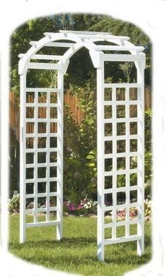 Designed for the classic tea garden, the white arch arbor is perfect for weddings - http://amzn.to/2Btv59y