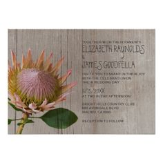 See MoreRustic Protea Wedding Invitations Custom Invitationslowest price for you. In addition you can compare price with another store and read helpful reviews. Buy