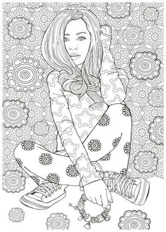 awesome Fashion Designer with the 80 models Coloring Book for adult Arthur Friday Illustrations (Creatrice de mode 100 tenues de reve a colorier)