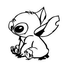 Stitch Coloring Pages, Pokemon Coloring Pages, Cute Stitch, Lilo And Stitch, Disney Decals, Disney Art, Cricut Craft Room, Cricut Vinyl, Drawing Sketches