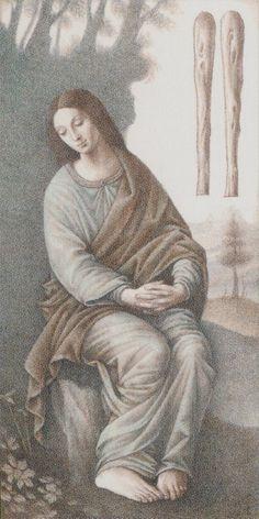 Two of Wands - Leonardo Da Vinci Tatot by A. Atanassov, Iassen Ghiuselev