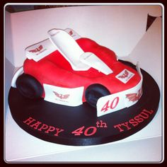 Go Kart Birthday Cake Cupcake Cakes, Cupcakes, Party Themes, Party Ideas, Go Kart, Birthday Cake, Cooking, Desserts, Crafts