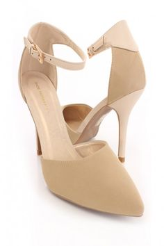 Camel Single Sole Heels Faux Leather